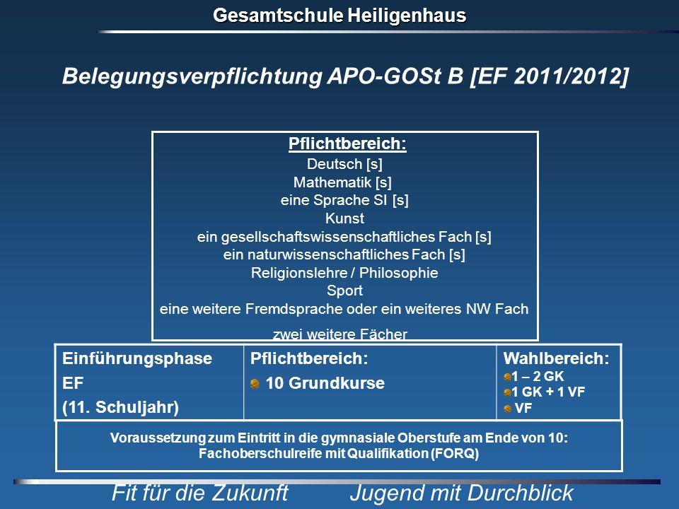 Belegungsverpflichtung APO-GOSt B [EF 2011/2012]